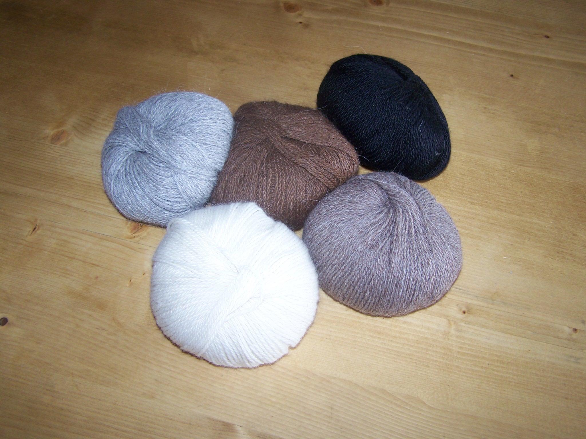 Pelotes de laine d'alpaga 50g